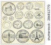 stamp set | Shutterstock .eps vector #286812770