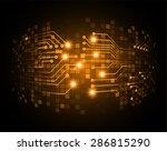 dark orange silver color light... | Shutterstock .eps vector #286815290