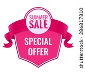 summer sale tag with special... | Shutterstock .eps vector #286817810