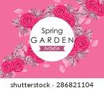 spring garden collection.... | Shutterstock .eps vector #286821104
