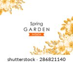 spring garden collection.... | Shutterstock .eps vector #286821140