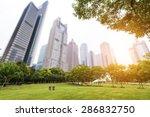park in lujiazui financial...   Shutterstock . vector #286832750
