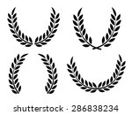 laurel wreaths set vector... | Shutterstock .eps vector #286838234