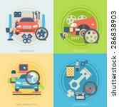 flat design concepts for car... | Shutterstock .eps vector #286838903
