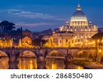 the papal basilica of st. peter ... | Shutterstock . vector #286850480