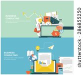 concepts for web banners and... | Shutterstock .eps vector #286855250