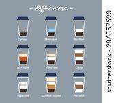 coffee menu | Shutterstock .eps vector #286857590