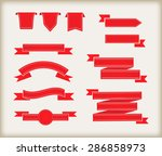 set of ribbons.ribbon banners...   Shutterstock .eps vector #286858973
