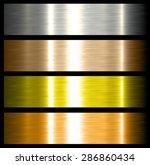 metal backgrounds brushed... | Shutterstock .eps vector #286860434