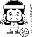 a cartoon basketball player... | Shutterstock .eps vector #286866476