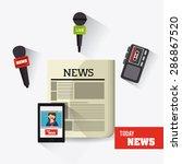 journalism design over white... | Shutterstock .eps vector #286867520