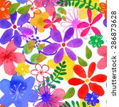 vector illustration of floral... | Shutterstock .eps vector #286873628