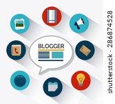 blog design over white... | Shutterstock .eps vector #286874528