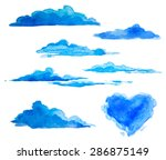 watercolor clouds | Shutterstock .eps vector #286875149
