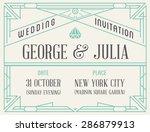 art deco and nouveau epoch... | Shutterstock .eps vector #286879913