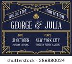 art deco and nouveau gatsby... | Shutterstock .eps vector #286880024