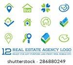 set of template logo for real... | Shutterstock .eps vector #286880249