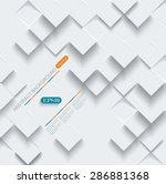 vector abstract geometric shape ... | Shutterstock .eps vector #286881368