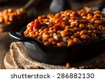homemade barbecue baked beans... | Shutterstock . vector #286882130