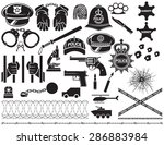 police icons set  british bobby ... | Shutterstock .eps vector #286883984