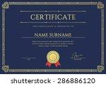 vector certificate or diploma