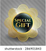 special gift gold shiny badge   Shutterstock .eps vector #286901843