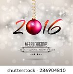 2016 new year and happy... | Shutterstock .eps vector #286904810