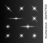glowing lights and stars.... | Shutterstock .eps vector #286907903