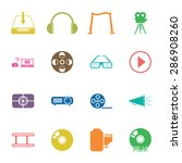 vector illustration of cinema... | Shutterstock .eps vector #286908260