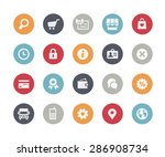 online store icons    classics... | Shutterstock .eps vector #286908734