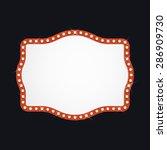 abstract retro light banner... | Shutterstock .eps vector #286909730