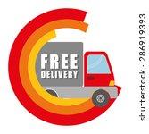 delivery design over white...   Shutterstock .eps vector #286919393