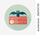 halloween party sign flat icon... | Shutterstock . vector #286924733