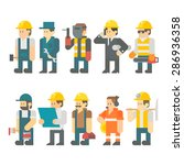 flat design of construction... | Shutterstock .eps vector #286936358