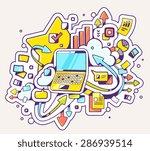 vector color illustration of... | Shutterstock .eps vector #286939514