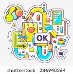 Vector Colorful Illustration O...
