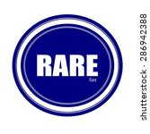 rare white stamp text on blue | Shutterstock . vector #286942388