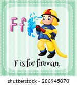 Flashcard Letter F Is For...