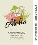 tiki party invitation with... | Shutterstock .eps vector #286945226