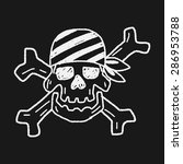 skull doodle | Shutterstock .eps vector #286953788