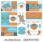 vector ice hockey badges for... | Shutterstock .eps vector #286954700