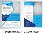 vector brochure flyer design... | Shutterstock .eps vector #286957034