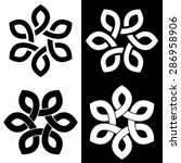 6 point celtic knot vector...   Shutterstock .eps vector #286958906