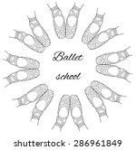 circle of ballet pointe shoe... | Shutterstock .eps vector #286961849