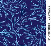 blue floral pattern | Shutterstock .eps vector #28696339