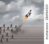 motivation concept and career... | Shutterstock . vector #286964324