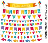 festa junina vector decoration... | Shutterstock .eps vector #286967960