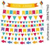 festa junina vector decoration... | Shutterstock .eps vector #286967960