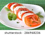 traditional caprese salad with... | Shutterstock . vector #286968236