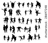 dancing silhouettes 1 | Shutterstock . vector #28697248